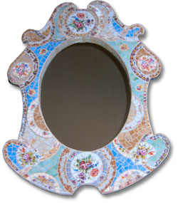 One-of-a-kind Cottage Mirror VII